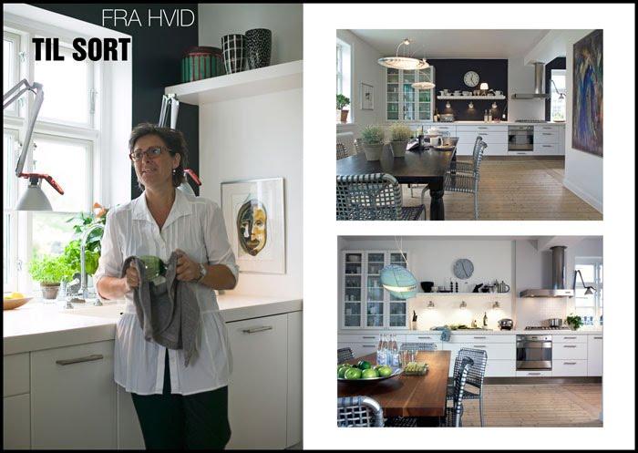 Køkken i sort og hvid   barslund indret